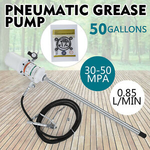 50 Gallon Grease Pump Lubricator Air Pneumatic Compressed Gun 30 60 Mpa