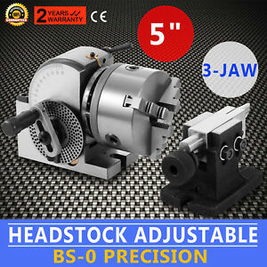 Bs 0 5 Indexing Dividing Spiral Head 3 jaw Chuck Tailstock Cnc Milling New