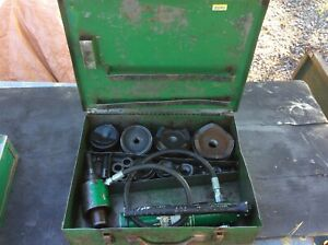 Greenlee 7310sb 1 2 4 Hydraulic Slug Buster Knockout Punch Set W ram And Pump
