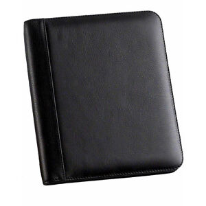 Enzodesign Leather Memo Pad Holder Junior Black Business Accessorie New