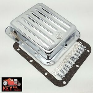 Pan Fill Ford C4 Chrome Automatic Transmission Pan Stock Depth Gakset
