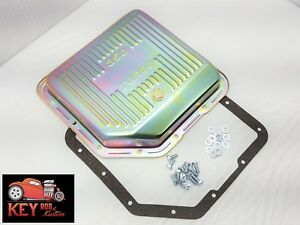 Turbo 350 Th350 Zinc Transmission Pan With Gasket Bolts Stock Capacity