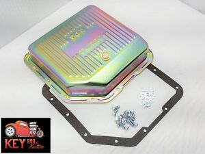 Turbo 350 Th350 Zinc Transmission Pan With Gasket Bolts Extra Deep Capacity