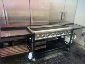 Commercial Restaurant Quality Propane Gas Grill Heavy Duty Grill On Wheels