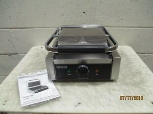 Galaxy P68 Single Panini Sandwich Grill With Grooved Plates 1 2 X 8 1 2 Cookin