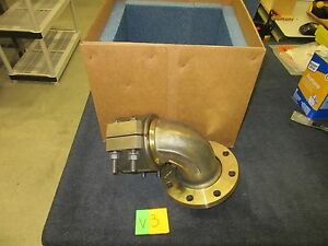 Eaton Aeroquip Military Pipe Fitting Elbow 5 Brass Copper Fuel Water Flange