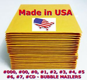 Kraft Selfseal Bubble Mailer Padded Envelopes Size 0 1 2 3 4 5 6 7 00 000 Cd Dvd