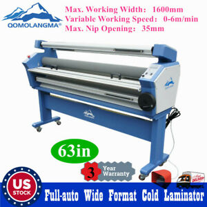 Usa Upgraded 63in Full auto Cold Laminator Wide large Format Laminating Machine