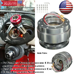 Ball Bearing Silver Steering Wheel Quick Release Detachable Hub For Honda Acura
