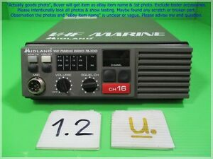 Midland 78 100g Vhf Marine Radio As Photo Sn 0687 Unknown Test As Is