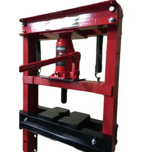 Hydraulic Shop Press Floor Shop Equipment 12 Ton Jack Stand H Frame Red