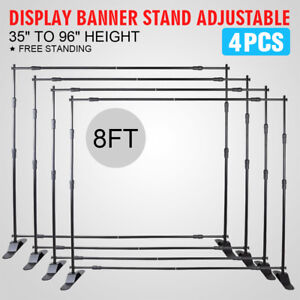 4 8 Banner Stand Display Changeable Display Reuseable Portable Step And Repeat