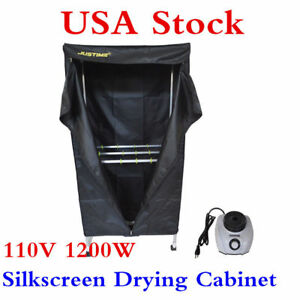Usa 110v 1200w Simple Type Silkscreen Drying Cabinet Assembly Curing Screen