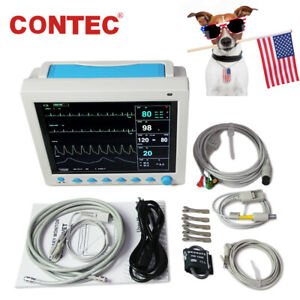 Pet Vet Veterinary Patient Monitor 6 Parameter ecg nibp pr spo2 temp resp ce fda