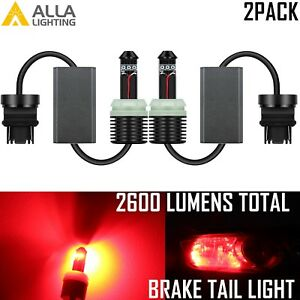 Alla Lighting Led 3157 Brake stop Tail Light Bulb Lamp Taillight super Bright 2x