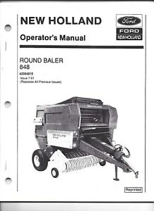 New Holland 848 Round Baler Operator Manual 42084815