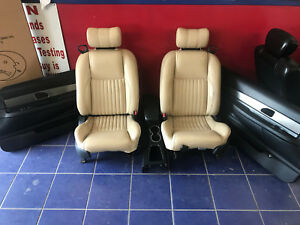 2002 2003 2004 2005 Ford Thunderbird Tan Leather Seats W Door Panels
