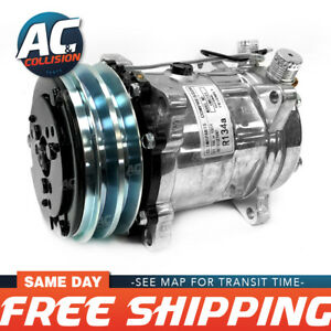 Cmu101 Universal A c Compressor With Black Pv7 Clutch Sanden 508 5h14 R134a