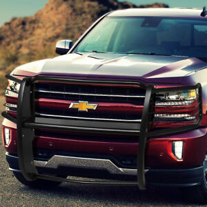 Mild Steel Front Tubular Headlight Grille Brush Guard For 14 18 Chevy Silverado