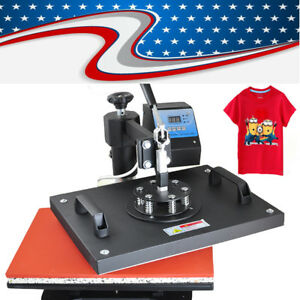 8 In1 Transfer Sublimation T shirt Mug Hat Cap Heat Press Machine Diy Printer