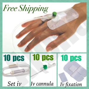 Iv Cannula Injection Set Kit Iv Administration Fixation Tape 6x8cm