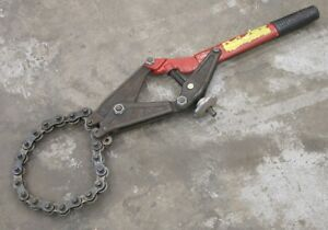 Wheeler Rex 490 6 Chain Type Pipe Cutter For Soil Pipes 4 6 Capacity