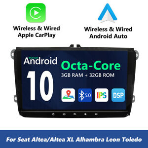Eonon Car Radio Stereo Android 9 0 Gps Navi Wifi Dab Rds For Volkswagen Vw Seat
