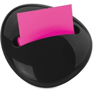 Lot Of 6 Post it Pop up Notes Pebble Design Dispenser 3 X 3 Notes Black