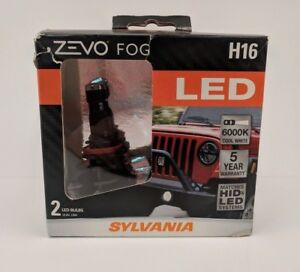Sylvania Zevo Led H16 Two Bulbs 6000k Cool White Fog Light Kit Ships Free