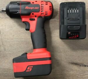 Snap on 18v 3 8 Dr Monsterlithium Impact Wrench W 2 Batteries excellent Cond