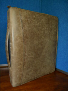 Franklin Covey Leather Zipper Binder Folio With Handle
