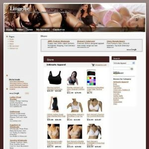 Established Women Lingerie Online Business Website For Sale Free Domain Name