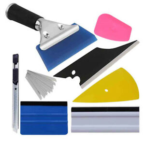 8 Pcs Car Window Tint Wrapping Vinyl Tools 3m Squeegee Scraper Applicator Kits