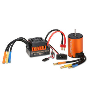 Surpass Hobby Waterproof 3650 3900kv Brushless Rc Car Motor With 60a Esc Set Fo