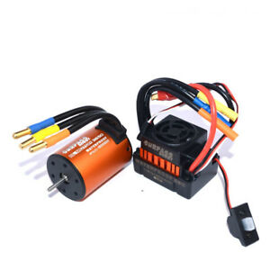 Surpass Hobby Waterproof 3650 4300kv Brushless Rc Car Motor With 60a Esc Set Fo