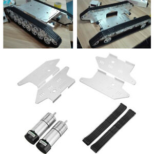 T800 4wd Metal Tank Chassis Tracked Smart Robot Car Kit With 9v 25mm Gear Motor