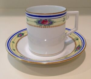 Hochst Hand Painted Porcelain Cup Saucer Set Made In Germany New