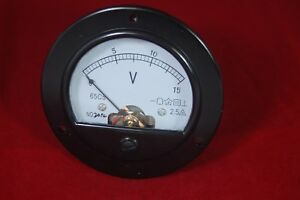 Dc 0 15v Round Analog Voltmeter Voltage Panel Meter Dia 90mm Directly Connect