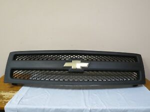 07 08 09 10 11 12 Silverado Base Front Upper Radiator Bumper Grille Grill Oem