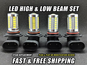 Led Combo Headlight For Ford Explorer 2002 2005 Low And High Beam Set Of 4