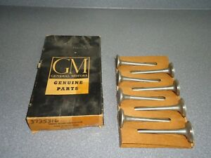 New Nos Oem Gm Engine Exhaust Valve 3735316 Box Of 8 1963 1967 Chevy 292 327