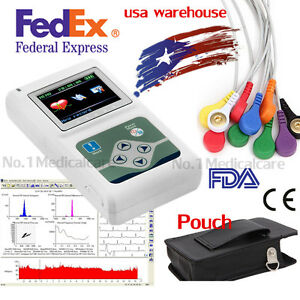 2018 New Dynamic Holter Ecg 12 Channel Lead Analyzer 24h Recorder pc Software