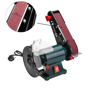6 Inch 150mm Bench Grinder Belt Sander Sharpener Linisher Electric Sanding Grin