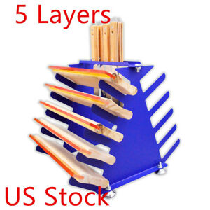 Us Stock Screen Squeegee Spatulas Holder Desktop Shelving Tool Rack 5 Layers