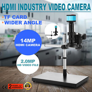 14mp 1080p Usb Hdmi Hd Industry Video Microscope Set Camera C mount Lens Stand