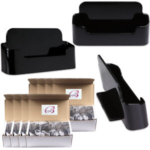 100pcs Black Acrylic Business Card Holder Display Stand Desktop Countertop
