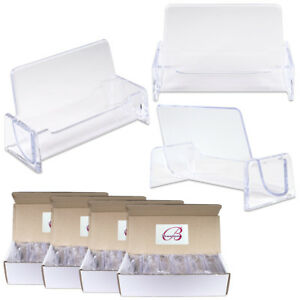 48pcs Clear Acrylic Compartment Desktop Business Card Holder Display Stand