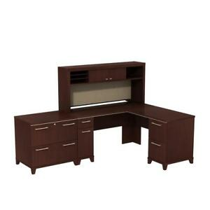 Enterprise 60w X 60d L Shaped Desk With Hutch And Lateral File Cabinet