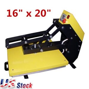 Us Stock 16 X 20 T shirt Clamshell Heat Press Machine Sublimation Slide Out