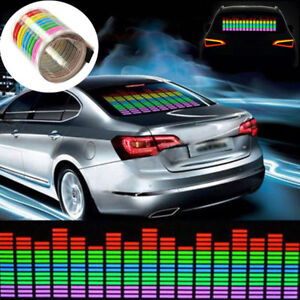 80x19cm Car Sticker Music Rhythm Colorful Led Flash Light Sound Activated Sticke